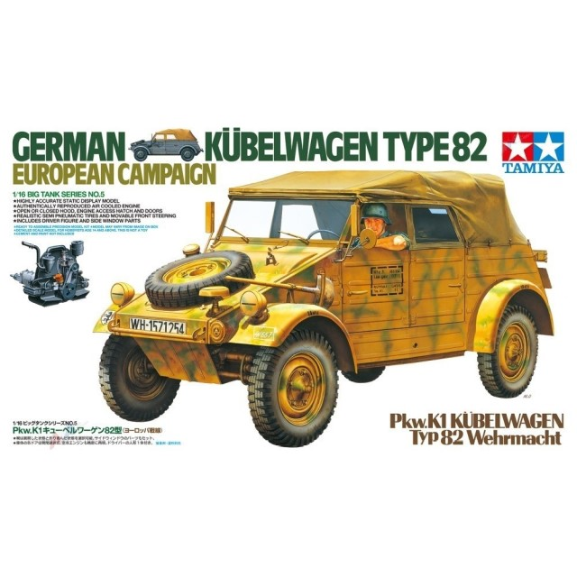German Pkw. K1 Kubelwagen Type 82 European Campaign