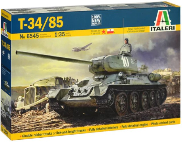 T-34/85 with Photo Etched Parts