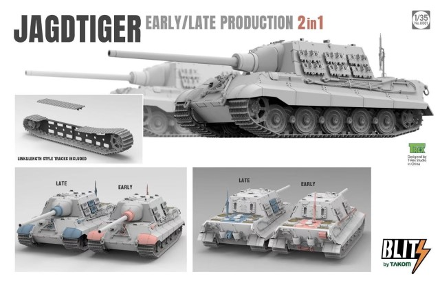 "Jagdtiger Sd.Kfz.186 """" Tank Early/Late Production"