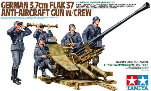 German Flak 37 With Crew