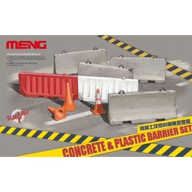 Concrete & Plastic Barrier Set
