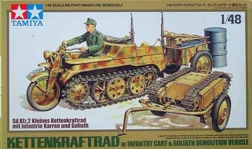 German Kettenkraftrad With Cart