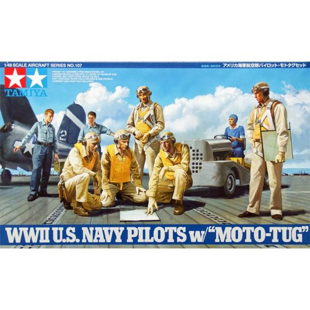 WWII USN Pilots w/Moto-Tug