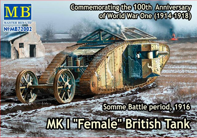 "Mk I ""Female"" British Tank Somme Battle Period 1916"
