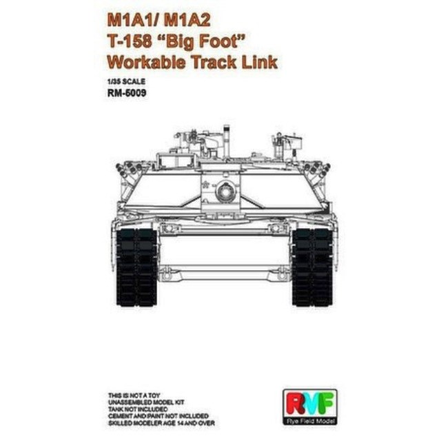 """US M1A1/M1A2 T-158 """"Big Foot"""" Workable Track Link"""