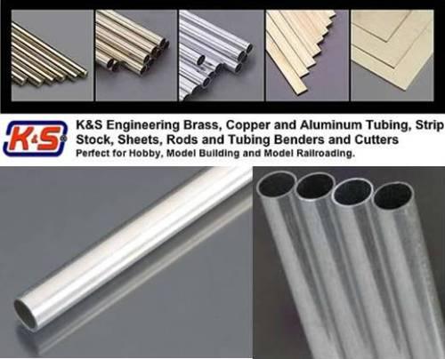 """(9/32"""") Dia 7.14mm Round Aluminium Tube - L = 304.8mm"""