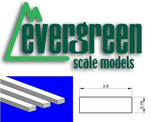 Dimensional Strips 2.5mm x 0.8mm (10 Strips Per Pack) #135