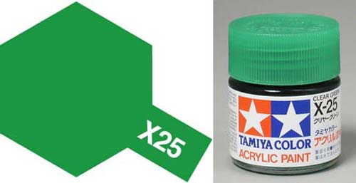 X-25 Clear Green Acrylic