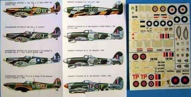 Hawker Typhoon Decal Sheet
