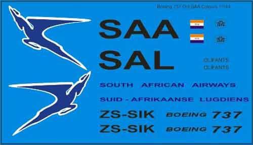 Boeing 737 SAA Orange Tail