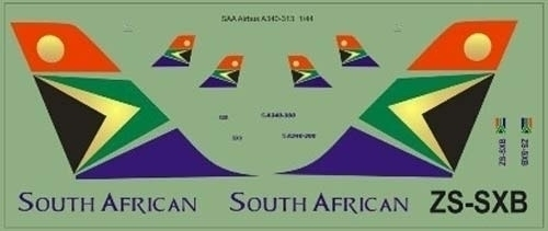 SAA Airbus A340-300 Decals