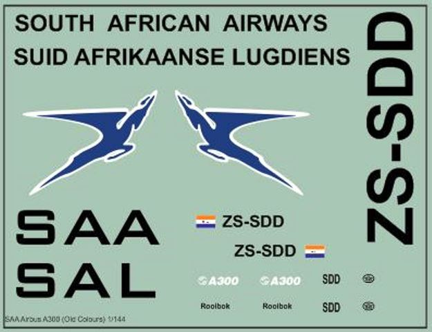 SAA Airbus A300 (Old Colours)