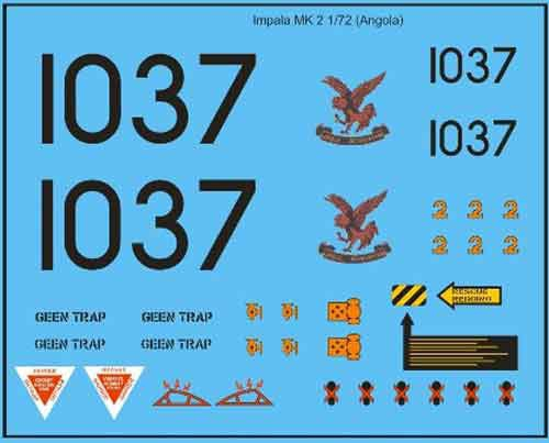 SAAF Impala Mk 2 (Angola) Decals