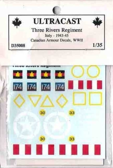 Canadian Armoured decals - Three Rivers Regiment
