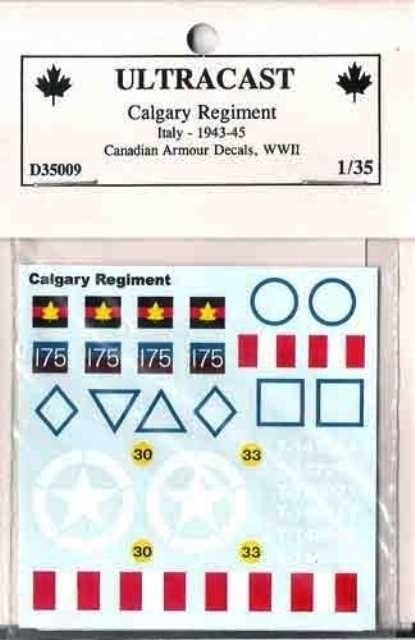 Canadian Armoured decals - Calgary Regiment