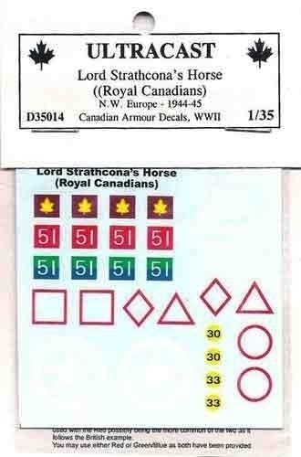 Canadian Armoured decals - Lord Strathcona Horse