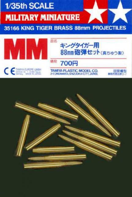 German King Tiger Brass 88mm Projectiles