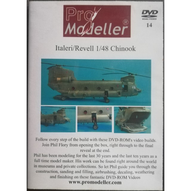 DVD Guide on how to build Italeri 1/48 Chinook.