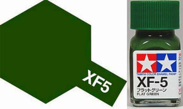 XF-5 Flat Green Enamel Paint