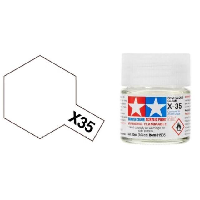X-35 Semi Gloss Clear Mini Acrylic