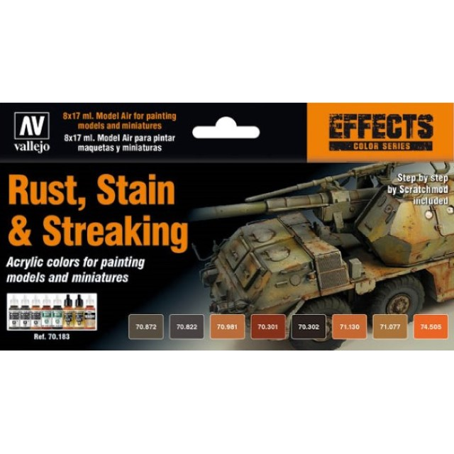 Rust, Stain & Streaking (8 Colour Set)