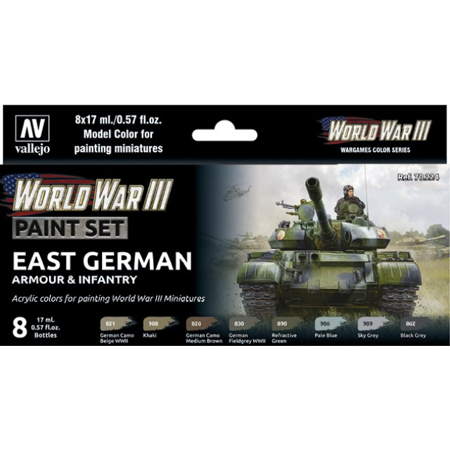 WWIII East German Armour & Infantry (8 Colour Set)