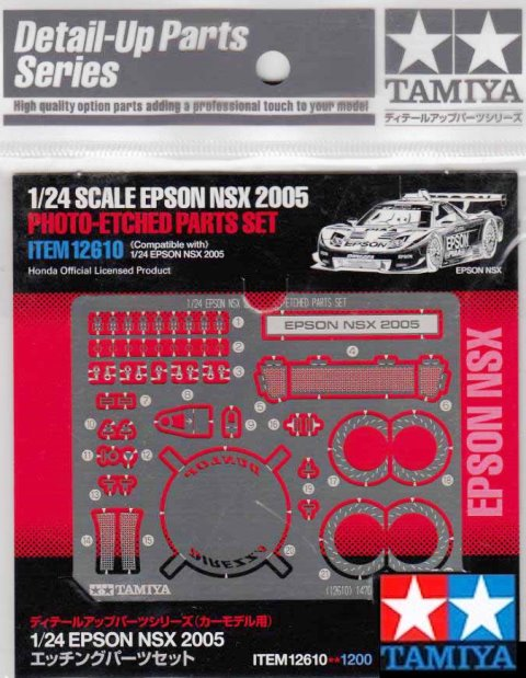 Epson NSX 2005 Photo Etched Parts