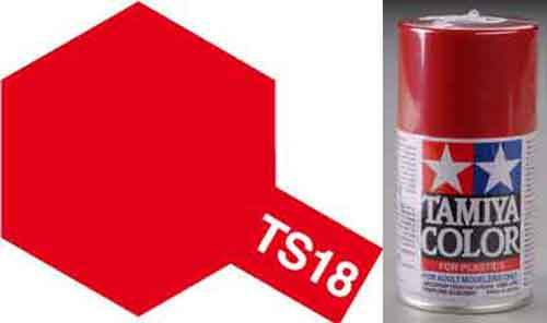 TS-18 Red - Metallic - Synthetic Lacquer Paint